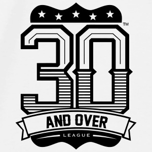 30 AND OVER LEAGUE MOUSE PAD - Men's Premium T-Shirt