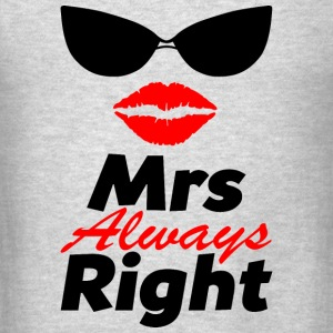 MrsRight-couple Hoodies - Men's T-Shirt