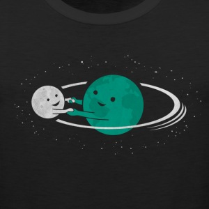 Relation Between Globe And Moon T-Shirts - Men's Premium Tank