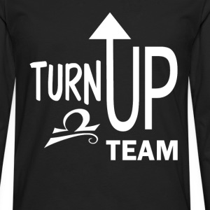 Libra turn up fun tee - Men's Premium Long Sleeve T-Shirt