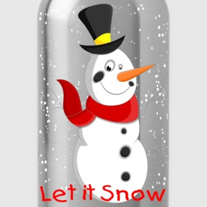 Snowman with Snowflakes - Water Bottle