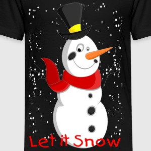 Snowman with Snowflakes - Toddler Premium T-Shirt