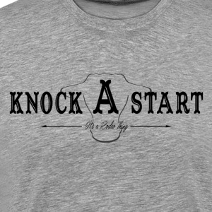 knock A start...blk Long Sleeve Shirts - Men's Premium T-Shirt