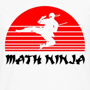 math ninja T-Shirts - Men's Premium Long Sleeve T-Shirt