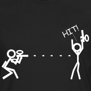 Paintball Stick Figure Hit - Men's Premium Long Sleeve T-Shirt