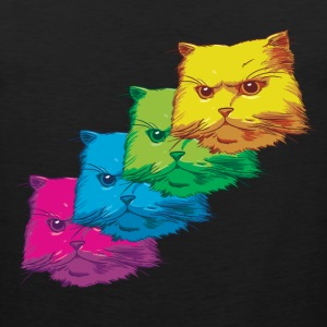 Fluorescent Cat - Men's Premium Tank