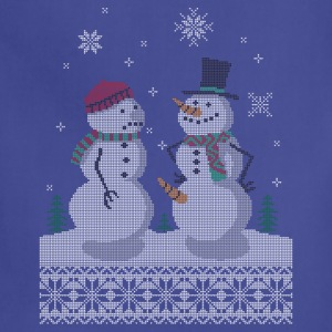 UGLY HOLIDAY SWEATER HAPPY SNOWMAN CARROT THIEF T-Shirts - Adjustable Apron