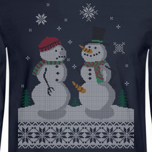 UGLY HOLIDAY SWEATER HAPPY SNOWMAN CARROT THIEF T-Shirts - Men's Long Sleeve T-Shirt