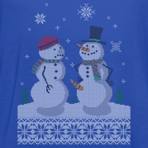 UGLY HOLIDAY SWEATER HAPPY SNOWMAN CARROT THIEF T-Shirts - Women's Flowy Tank Top by Bella