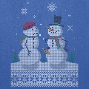 UGLY HOLIDAY SWEATER HAPPY SNOWMAN CARROT THIEF T-Shirts - Tote Bag