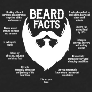 Beard Facts (white) Mugs & Drinkware - Men's Premium Long Sleeve T-Shirt