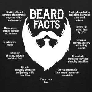 Beard Facts (white) Long Sleeve Shirts - Men's Premium Tank