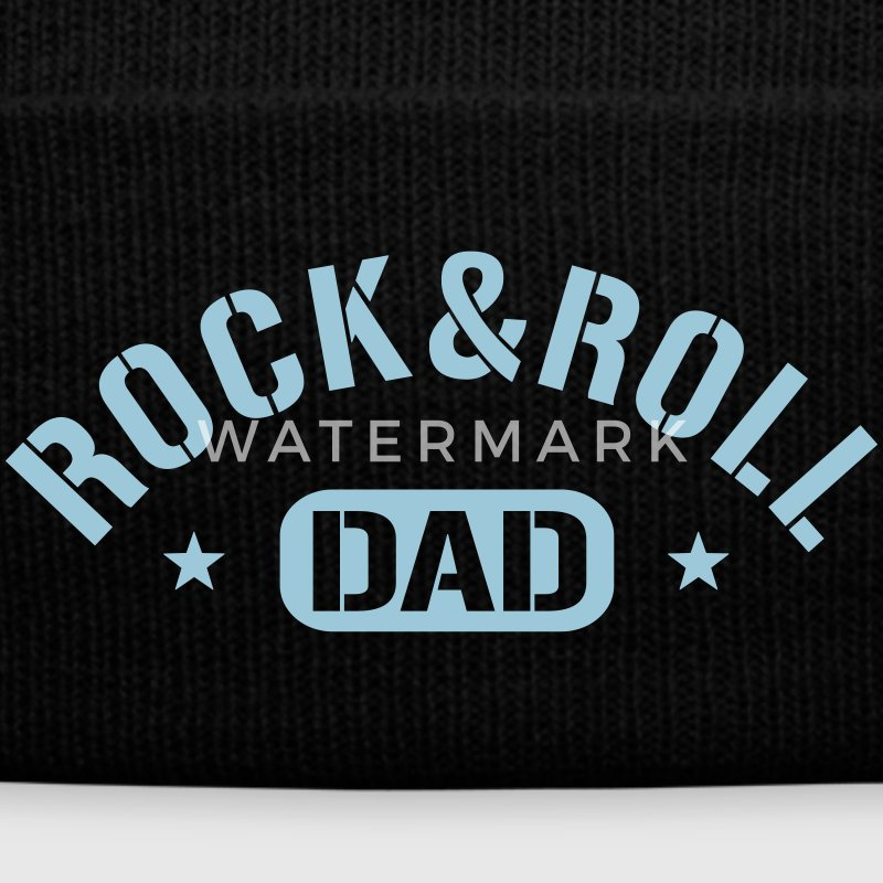 Rock And Roll Dad Caps - Knit Cap with Cuff Print