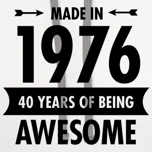 Made In 1976 - 40 Years Of Being Awesome Polo Shirts - Contrast Hoodie