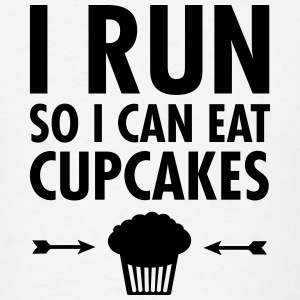 I Run - So I Can Eat Cupcakes Polo Shirts - Men's T-Shirt