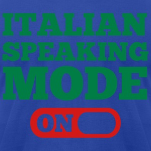 Italian Speaking Mode On Hoodies - Men's T-Shirt by American Apparel