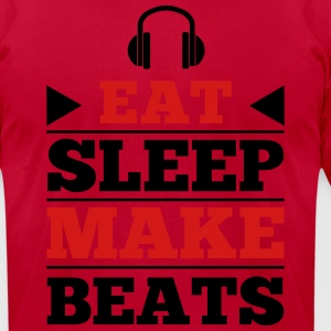 Eat Sleep Make Beats Hoodies - Men's T-Shirt by American Apparel