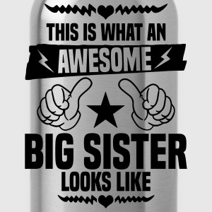 Awesome Big Sister Looks Like Kids' Shirts - Water Bottle