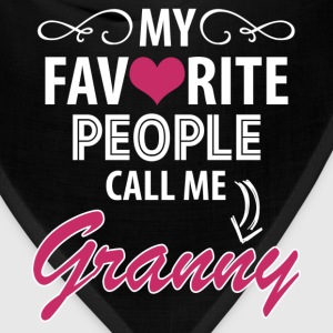My Favorite People Call Me Granny Women's T-Shirts - Bandana