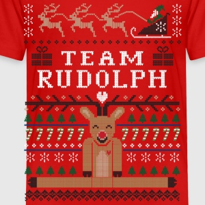 Rudolph Ugly Christmas Kids' Shirts - Toddler Premium T-Shirt