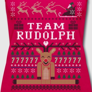 Rudolph Ugly Christmas T-Shirts - Women's Premium Tank Top