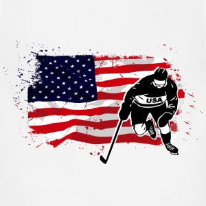 American Ice Hockey - USA Vintage Flag Tanks - Adjustable Apron