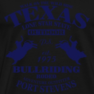 Texas Bullriding Rodeo - The Lone Star State Hoodies - Men's Premium T-Shirt
