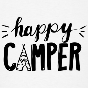 HAPPY CAMPER Tank Tops - Men's T-Shirt