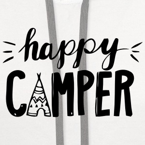 HAPPY CAMPER Baby & Toddler Shirts - Contrast Hoodie