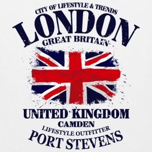 London - Union Jack - Vintage Look Long Sleeve Shirts - Men's Premium Tank