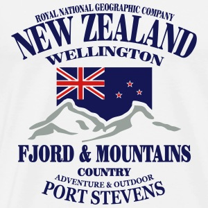Fjord & Mountains - New Zealand  Hoodies - Men's Premium T-Shirt
