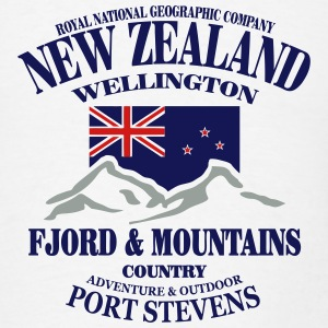 Fjord & Mountains - New Zealand  Hoodies - Men's T-Shirt