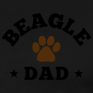 Beagle Dad Zip Hoodies & Jackets - Men's Premium T-Shirt