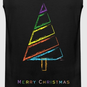 Chalk Christmas Tree Kids' Shirts - Men's Premium Tank