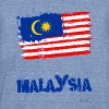 Malaysia Flag T-Shirts - Unisex Tri-Blend T-Shirt by American Apparel