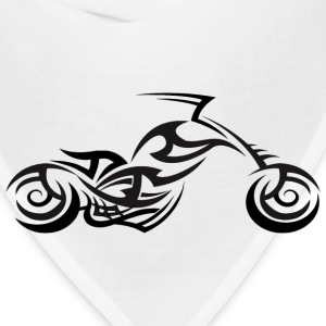 Tribal Tattoo Style Chopper Motorcycle T-Shirt - Bandana