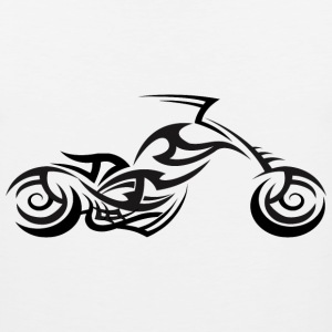 Tribal Tattoo Style Chopper Motorcycle T-Shirt - Men's Premium Tank