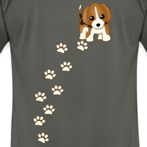 Beagle Puppy Dog T-shirt - Men's T-Shirt by American Apparel