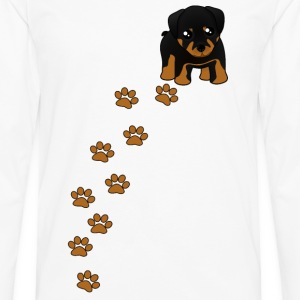 Rottweiler Puppy Dog T-Shirt - Men's Premium Long Sleeve T-Shirt