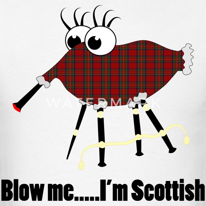 Funny Scottish Bagpipes T-Shirt - Men's T-Shirt