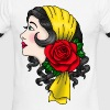 Gypsy Woman in American Traditional Style T-Shirt - Men's Ringer T-Shirt