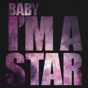 baby Im a star! with hipster starfield Baby Bodysuits - Men's Premium T-Shirt