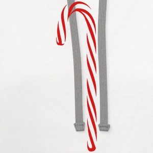 Red And White Candy Cane - Contrast Hoodie