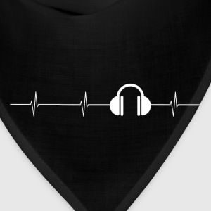 Headphones Heartbeat Mens T - Bandana