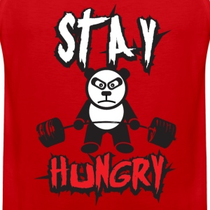 Stay Hungry (Panda Bear) - Gym Motivation T-Shirts - Men's Premium Tank