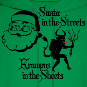 Santa in the Streets, Krampus in the Sheets - Men's Hoodie