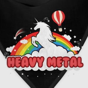 Heavy Metal (Unicorn and Rainbow) Women's T-Shirts - Bandana