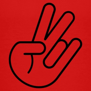 JDM Peace Hand (Outline) Kids' Shirts - Toddler Premium T-Shirt