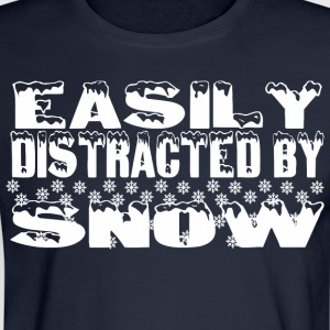 Easily Distracted By Snow  - Men's Long Sleeve T-Shirt
