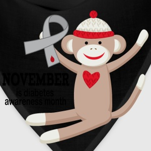 Diabetes Awareness Month Sock Monkey Women's T-Shirts - Bandana